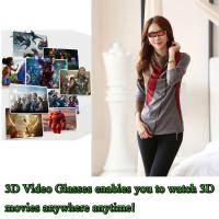 "A8/8GB Flash/Max 32GB TF Card 98"" Virtual Screen with AV IN Function 3D Video Glasses"