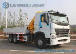 China 380 HP Sinotruk HOWO-A7 Truck Moonted Crane 6x4 Truck 10 T XCMG Crane on sale