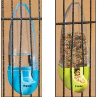 China bullet-shaped bird feeder and waterer for vertical bird cage twin pack on sale