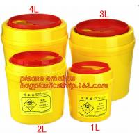 1.0L small biohazard sharps Container, bin for surgical waste with lower price, Disposable Hospital Biohazard Sharp Coll