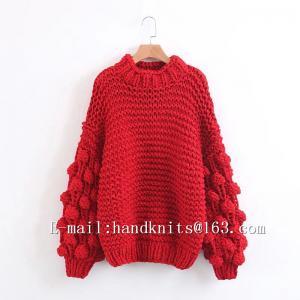 China Hand Knit Sweater, Hand Knitted Cardigan, Handmade Pullover Bohemian Dress, Stylish Bubble Dress on sale