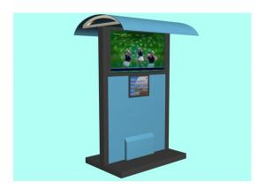 China Multimedia Advertising Waterproof Kiosk , LCD Touch Screen Outdoor Kiosks System with Shelter on sale