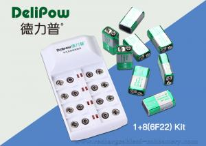 China 9V Rechargeable Battery Charger , 8 6F22 350mAh Rechargeable 9v Batteries on sale