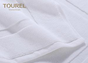 Quality Sanitized Logo Hotel Non Slip Bath Mat / White Bathroom Floor Mats for sale
