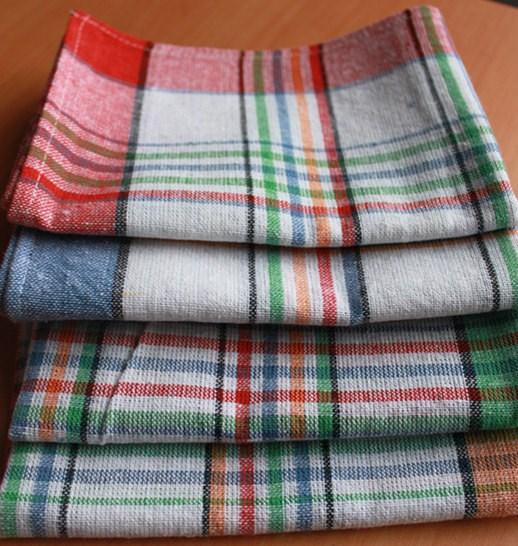 Cotton Classic Restaurant Grid Kitchen Tea Towels Plaid Tea Towel