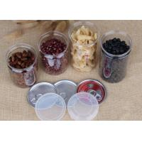 China Customized Snacks / Tea Packing Pet Plastic Jars Easy Open Lid Air - Proof on sale