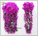 China UVG artificial flowers wholesale hanging silk violet wreath for wedding flower arrangements WIS017 wholesale