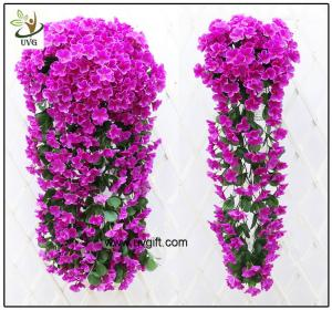 China UVG artificial flowers wholesale hanging silk violet wreath for wedding flower arrangements WIS017 on sale