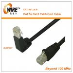 Special Type 90 Degree Eblow Cat 5 Patch Cable , Indoor Ftp Long Patch Cables Easy To Use
