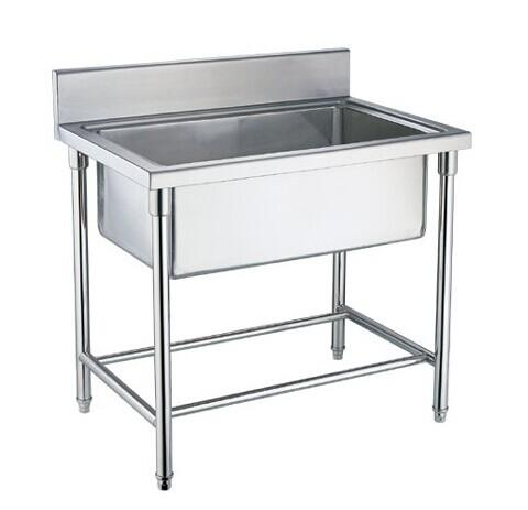 Single Double Triple Bowl Commercial Stainless Steel Sinks For Cold Images