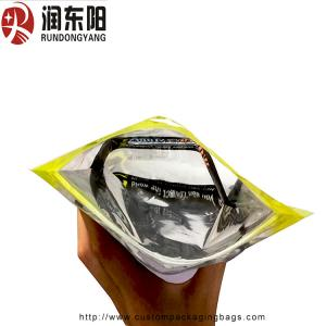 China Heat Seal Custom Printed Resealable Bags Plastic 3 Sides Seal For Wire Packaging on sale