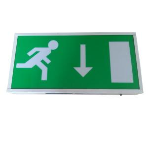 China Rechargeable Led Exit Signs / IP20 Running Man Escape Sign CE Certified on sale