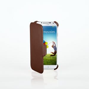 China Brown Folio Samsung Galaxy s4 Flip Case , Blank Tablet Cover Case on sale