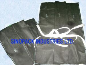 China Non-woven PP builder pipeline black Gravel bulk bag suitable for oil pipe 4'' - 6''  - 8'' - 10 on sale