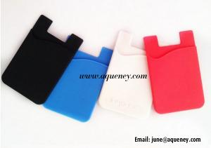 China Hot Sale Cell Phone Silicone Cases , Silicone Smart Wallet Mobile Phone Cover on sale