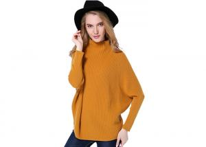 China Women Plus Size Pure Cashmere Sweaters Batwing Sleeve Design Pullover on sale