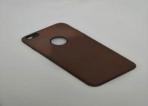 China Anti Scratches Premium PU Phone Case For Iphone 6 Brown Leather Back Cover on sale