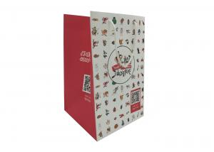 China White Rope Handle Carrier Bags , Large Printed Paper Carrier Bags Karft Paper on sale