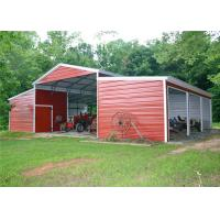 China Durable Shade Steel Garage Buildings Pre Manufactured Carports Labor Saving on sale