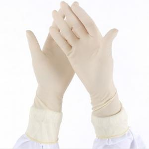 China Thick Disposable Surgical Gloves , Medical Disposable Latex Gloves White Color on sale