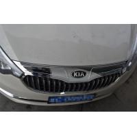 ABS Chrome Auto Body Trim Parts For KIA K3 2013 2015 , Bonnet Trim Strip