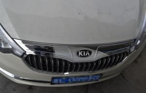 China ABS Chrome Auto Body Trim Parts For KIA K3 2013 2015 , Bonnet Trim Strip on sale