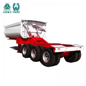 China Multi Color Farm Tipping Trailer , Leaf Spring Heavy Duty Tipper Trailer on sale