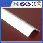 China extruded profile aluminium angle for industry using drawings design wholesale