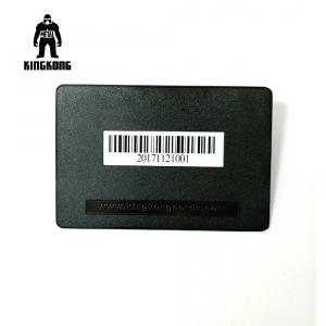 Deboss Text  Blank Metal Business Cards , Black Metallic Business Cards With Bar Code