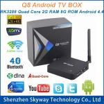 China Q8 RK3288 A17 2.4G+5G Dual Band wifi Quad Core 2G/8G Android TV Box Media Player with Ante wholesale
