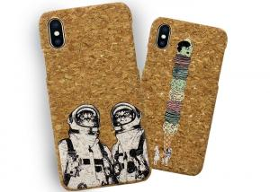 China Customise Bamboo Wood Cell Phone Sleeve Case Soft Natural Cork Wood Phone Cover on sale