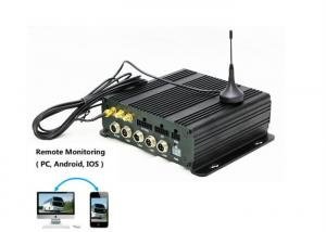 China 4 channel SD card mobile DVR 720P 4G live streaming GPS tracking vehicle car DVR on sale