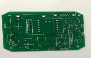 China Single Side FR4 White Silkscreen PCB , 1.6mm 1oz HAL Lead Free Green Solder Mask on sale
