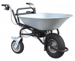 China Sliver Electric Powered Wheelbarrow, 230W 3 Wheel Wheelbarrow with Motor on sale