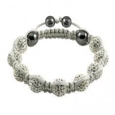 China Shamballa Crystal Ball Bangle Bracelets on sale