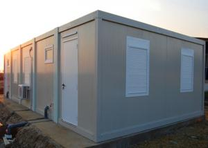China Insulation Flat Pack Metal Storage Containers With Shutter Window And Drainage System on sale