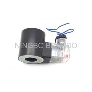 China 220V Black Pneumatic Solenoid Coil Normally Close Flying Lead Plastic Pulse Valve Solenoid Coil on sale