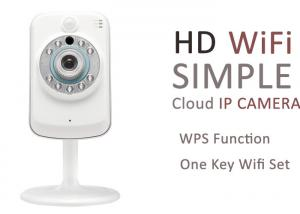 China WPS 2 Way Talk Wireless Wifi Security Camera PNP With Dual IR-CUT Filter on sale