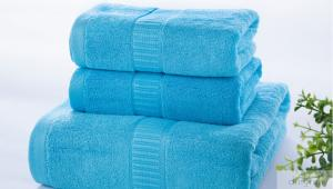 China Different Color Pure Cotton Bath Towels Set For Family / Supermarket on sale