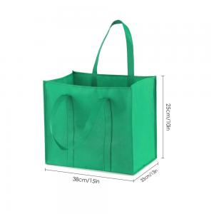 China Shop Eco-friendly Non Woven Fabric Tote Shopping Carry Bag bag factory reusable grocery shopping bags non-woven shopping on sale