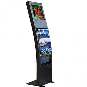 China 17 Floor Standing LCD Advertising Screen with Bookshelf (SS-004) on sale