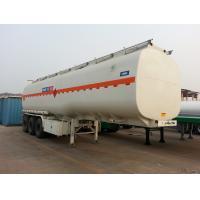 China 50CBM Aluminium Fuel Truck Trailer Oil Tank Semi Trailer Ellipse BPW Axle on sale