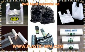 China HDPE&LDPE Plastic Bags Shopping Bags Garbage Bag Bags on Roll T-shirt Bags on sale