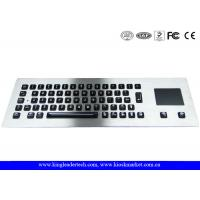 China Illuminated industrial pc keyboard with integrated Touchpad , ruggedized keyboard on sale