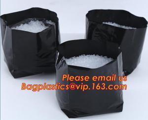 China polyethylene black grow bags plastic plant pot seeding nursery bags,Effective UV Stabilized Black White Plastic Growing on sale