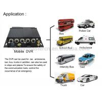 China High Definition 4G Mobile DVR With GPS , Automotive Dvr Recorder 4 Channel Industrial Level on sale