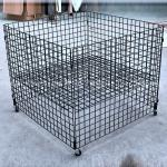 Shopping mall portable metal cage trolley simple modern design with wheel cage trolley  pillow storage cage trolley