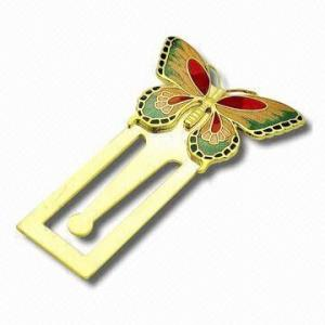 China Custom Promotional Butterfly metal bookmarks, metal iron Personalised Bookmarks on sale