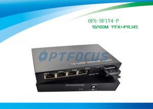China DF SM 1310nm 20KM Power Over Ethernet POE 100BASE - Fx 4 Port 10 / 100BASE - Tx  SC on sale
