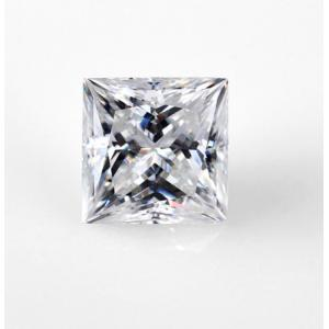 China DEF Clear White 7mm Princess Cut 2 Carat Moissanite Stone Very Good Cutting VVS on sale
